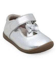 Teddy toes miss teddy Balerina - Silver ( 9 to 12 Months)
