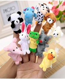 Twisha Nx Finger Puppets Assorted Colour  - Pack of 10
