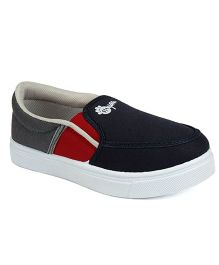 Myau Slip On Casual Loafers - Navy Red