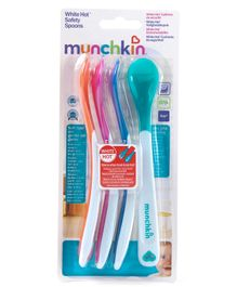 Munchkin Feeding Spoons Set Of 4 (Color May Vary)