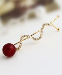 Flaunt Chic Cherry & Stone Wave Clip - Gold
