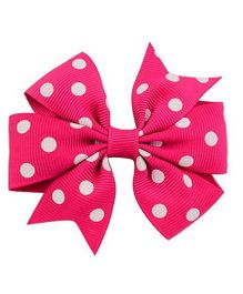 Flaunt Chic Bow Hair Clip - Hot Pink