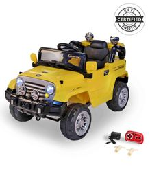 Babyhug Battery Operated Ride On Jeep With Parental Remote Control - Yellow