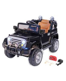 Babyhug Battery Operated Ride On Jeep With Parental Remote Control - Black