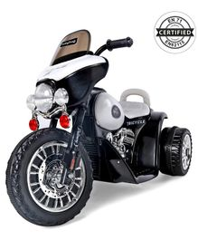 Babyhug Battery Operated Motorcycle Ride On With Forward & Reverse Mechanism - Black