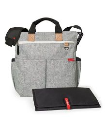 Skip Hop Duo Signature Diaper Bag With Changing Mat - Grey Melange