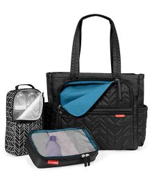 Skip Hop Forma Diaper Tote With Accessory Bags - Black