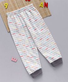 Swanky Me Biowash Love Family Print Pants - White