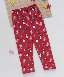 Swanky Me Biowash X-Mas Celebration Print Pants - Red