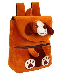 Frantic Velvet Bag Puppy Face Brown - 14 Inches