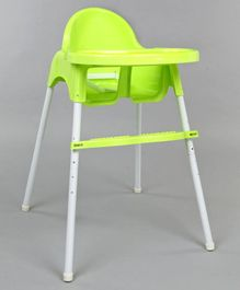 Babyhug Grace 2 in 1 Dining Chair With 2 Point Safety Harness & Anti Slip Footrest - Light Green