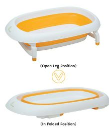 R for Rabbit Bubble Double Elite The Folding Baby Bath Tub - Orange