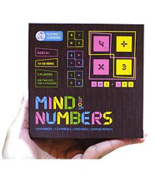 Mind Your Numbers 2 Player Board Game  - Multicolour