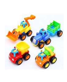 Toyshine Unbreakable Automobile Car Toy Set Pack of 4 - Multi Color