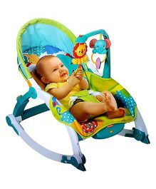 Toyshine Rocker Chair With Calming Vibrations - Blue Green
