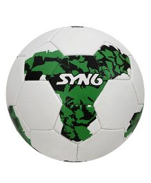SYN6 Hand Stitched Foot Ball - White Green