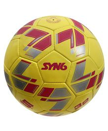 Syn6 Hand Stitched Foot Ball - Yellow Red