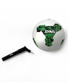 SYN6 World Cup Series Foot Ball With Air Pump - White Green