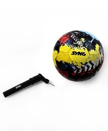 SYN6 Recycled Tyre Soccer Ball With Air Pump - Multicolour