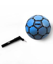 SYN6 Textured Foot Ball With Air Pump - Blue