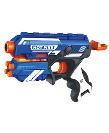Webby Foam Blaster Gun Toy With 10 Bullets - Blue