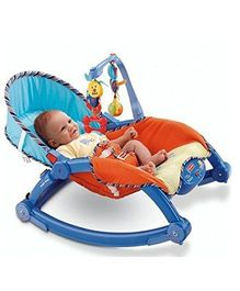 Webby Newborn To Toddler Portable Baby Rocker - Blue