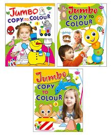 Sawan Jumbo Copy Colouring Books Level 1 2 3 Set of 3 - English