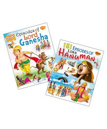 Sawan Story Book 151 Series Lord Ganesha & Lord Hanuman Stories Set of 2 - English