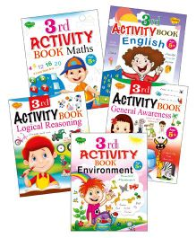 Sawan 3rd Activity Books Logical Reasoning Environment General Awareness English Maths Set of 5 - English