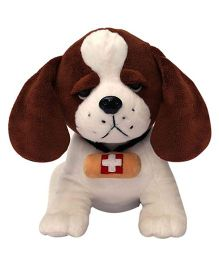 My NewBorn Puppy Soft Toy Brown Cream - Height 30 cm
