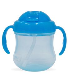 Pigeon Mag Mag Straw Cup With Handle Sky Blue - 200 ml