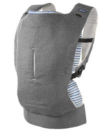 Chicco Myamaki Complete Denim Cyclamen 3 Way Baby Carrier - Grey