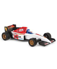 Welly Pull Back Die Cast Formula Racer Toy Vehicle - White