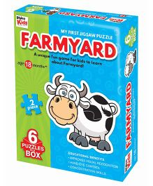 Braino Kids Farmyard Jigsaw Puzzle Multi Color - 6 Puzzle