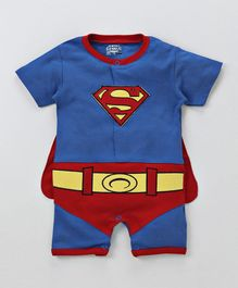 205e75f8510 Mom s Love Half Sleeves Superman Theme Romper - Blue