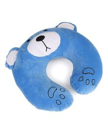 Play Toons Teddy Shaped Neck Pillow Light Blue - 35 cm