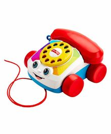 Fisher Price Pull Along Chatter Toy Telephone - White Red