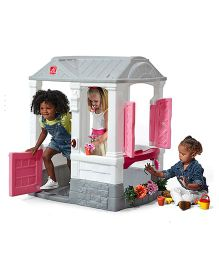 Step2 Courtyard Play House Cottage - Pink Grey
