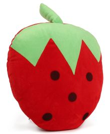 Dimpy Stuff Soft Strawberry Fruit Cushion - Red