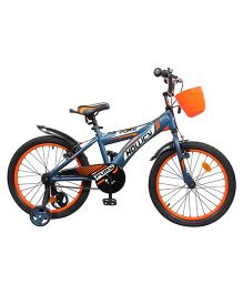 Hollicy Fury Bicycle With Trainer Wheels Blue Orange - 20 inches