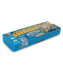 Minions Dual Sided Magnetic Pencil Box With Compass - Blue
