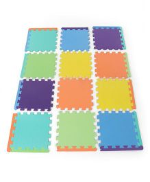 Funjoy Plain Color Puzzle Playmat Multicolor - 12 pieces
