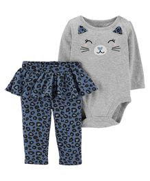 Carter's 2-Piece Cat Bodysuit & Tutu Pant Set - Grey