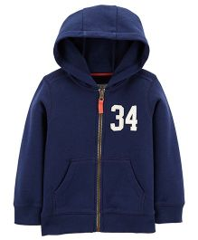 Carter's Zip Up Hoodie - Navy Blue