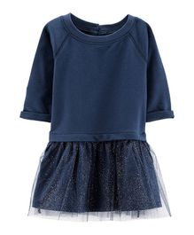Carter's French Terry Tutu Dress - Navy Blue