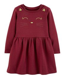 Carter's Kitty Character Dress - Maroon