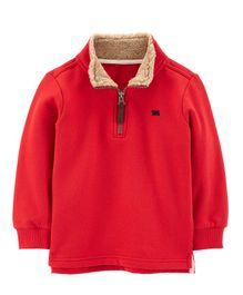 ecfd614a7b3 Carter s Half-Zip Fleece Pullover - Red
