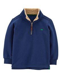 0403ac076e5 Carter s Half-Zip Fleece Pullover - Navy Blue