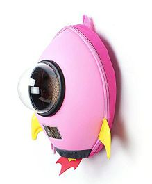 VISMIIMTREND 3D Rocket Backpack Pink - 11.8 Inches
