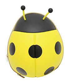 VISMIIMTREND 3D Ladybug Toddlers Backpack Yellow - 12 Inches